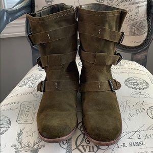 Dolce Vita strappy combat boot women's sz8